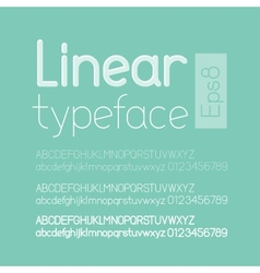 Linear letters and numbers vector