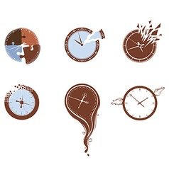 Lost time icon set vector