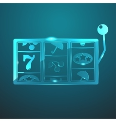 Glass slot icon vector