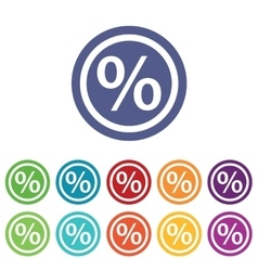 Percent signs colored set vector