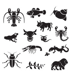 Silhouette - animals vector
