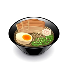 Ramen soup isolated on white vector
