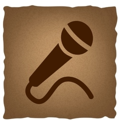 Microphone sign vintage effect vector