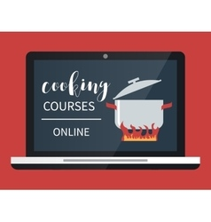 Cooking course online vector