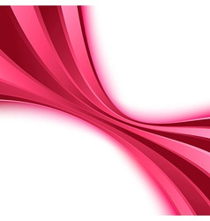 Abstract bright pink wave poster vector image vector image