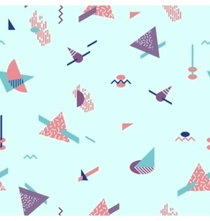 Abstract geometric pattern fashion 80-90s vector