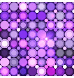 Abstract violet circles seamless pattern vector