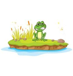 Angry Cartoon Frog vector image vector image