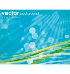 aqua elements background vector image vector image