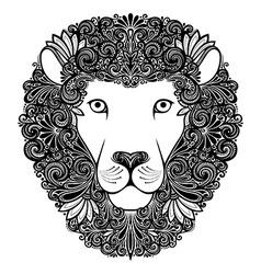 Artistic lion design vector