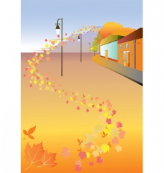 City autumn vector