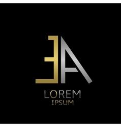 EA letters logo vector image vector image