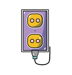 electric plug power technology connect vector image