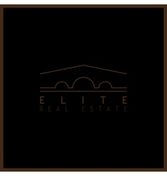 Elite real estate vector