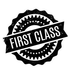 First class rubber stamp vector