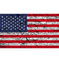 Flag of USA with old texture vector image