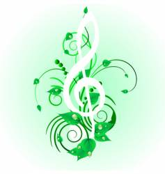 grunge musical note vector image vector image
