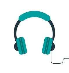 Headphones music listen mobile vector