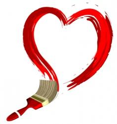 heart shape stroke vector image vector image