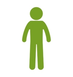 Human silhouette green isolated icon vector