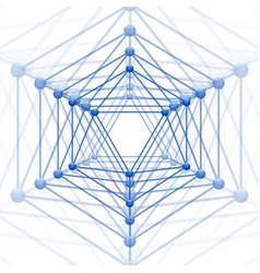 Icosahedron with block connect vector
