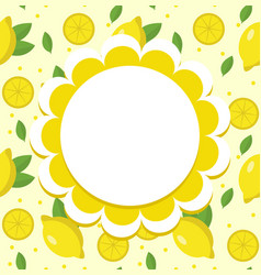 Lemon label wrapper template for your design vector