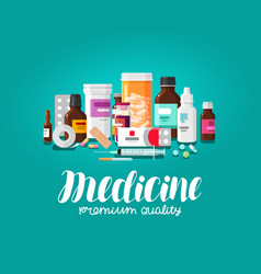 Medicine concept pharmacy pharmaceutics vector