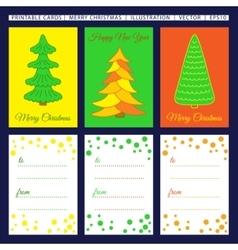 Merry Christmas Printable cards vector image