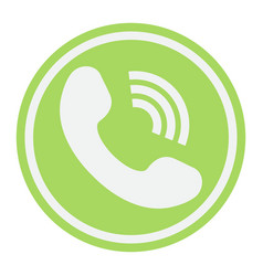 Phone call flat icon contact us and website vector