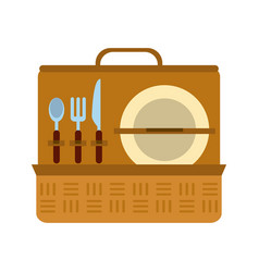 Picnic basket icon image vector