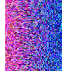 Pink and blue abstract triangle pattern vector