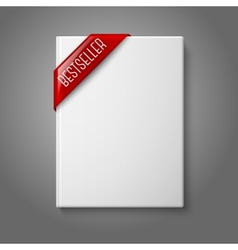 Realistic white blank hardcover book front view vector
