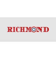 Richmond city name with flag colors vector image
