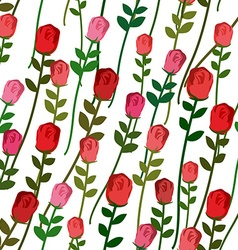 Roses seamless pattern rose with a long stem and vector
