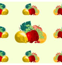 Seamless texture fruit healthy food vector image