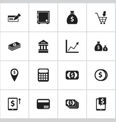 Set of 16 editable financial icons includes vector