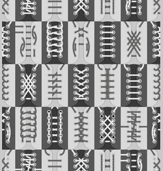 shoe lacing schemes collection seamless pattern vector image