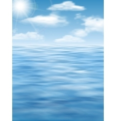 Sky sun and water surface background vector