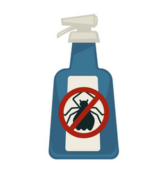 Spray bottle with antipest sign isolated on white vector