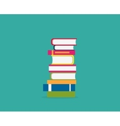 Stack books icon vector