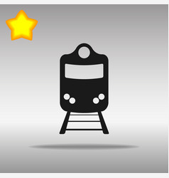 Train black icon button logo symbol concept vector