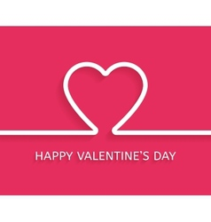 Valentines Day flat style greeting card vector image vector image
