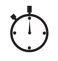 watch icon on white background watch sign vector image vector image
