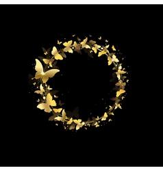 wreath of butterflies vector image vector image
