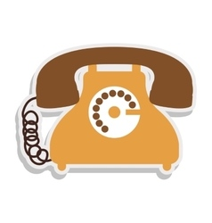 Antique phone design with cord vector