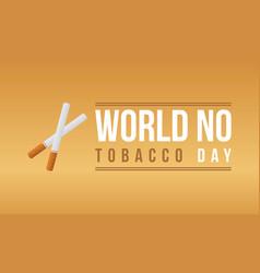 art world no tobacco day vector image