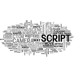 What do directors look for in a script text word vector