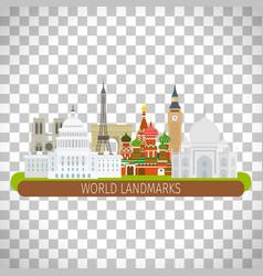 Building landscape on transparent background vector