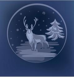 Christmas standing raindeer background vector