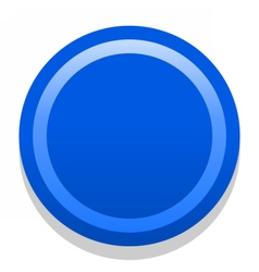 3d blue blank icon in flat style vector